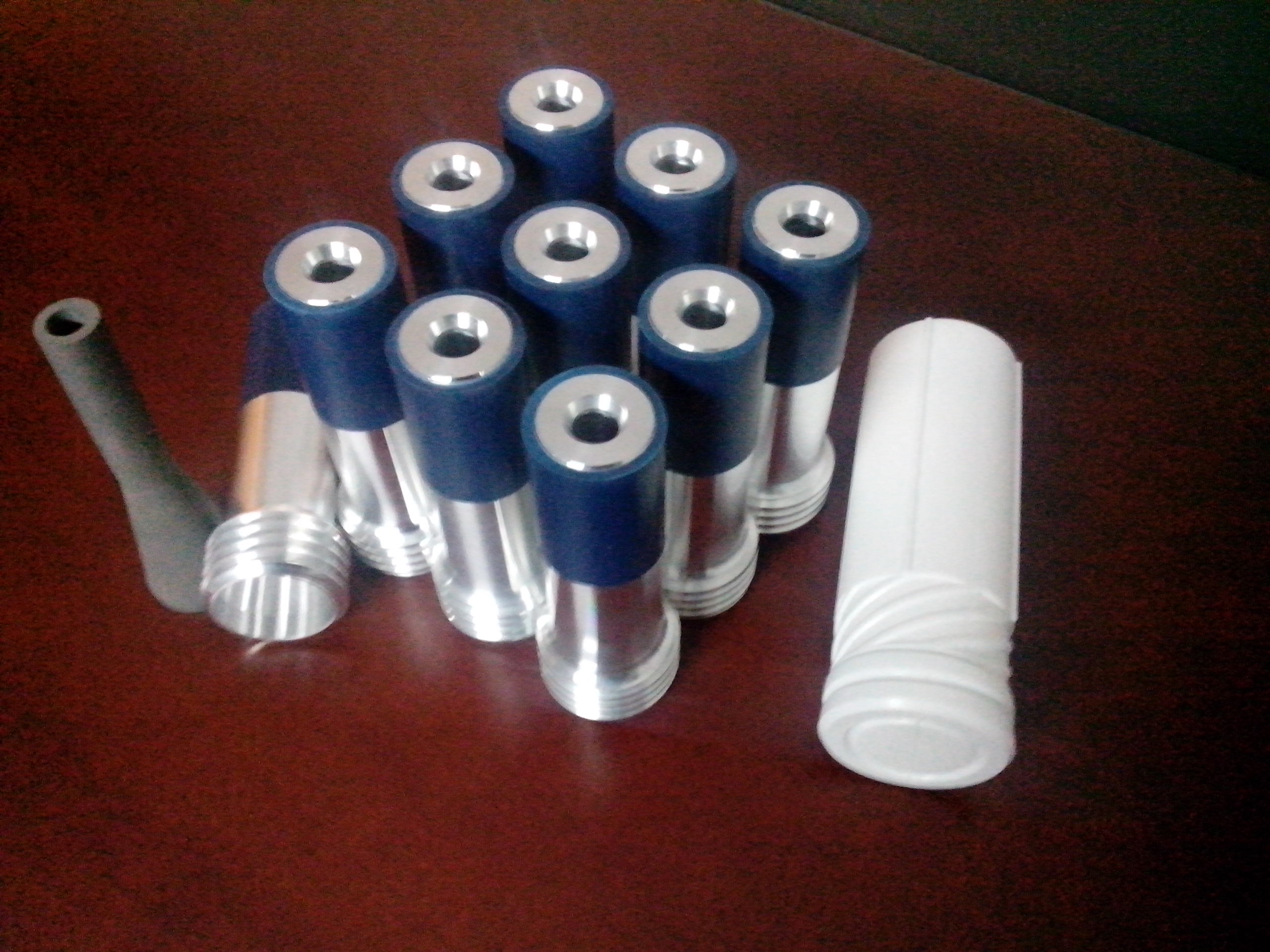 Boron carbide nozzle with plastic jacket